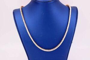 "14k Rose Gold 14.00 CT Diamond Tennis Necklace, 48.8gm, 22"", S105401"