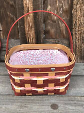 Longaberger 2018 Sweetheart Basket With Protector, CUSTOM liner Too!
