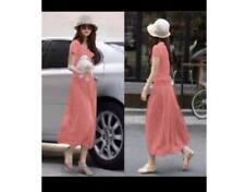Korean Long Maxi Dress (Peach)