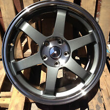 TE37 GRID STYLE 18X8.5 18X9.5 STAGGERED RIMS FIT BMW E46 325 330 E90 328 335