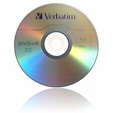 VERBATIM DVD + R SUPPORTI registrabili Confezione da 10 velocità Maniche Lunghe/16X/4.7 GB