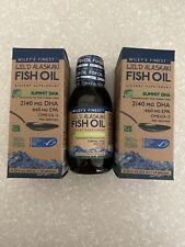 TWO Wiley's Finest Wild Alaskan Fish Oil Dietary Supplement 2140 MG DHA