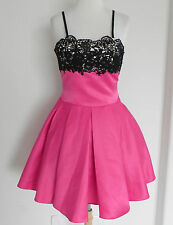 Dylan Queen Limited Formal/ Prom Dress Satin Petti Coat Hot Pink Size S