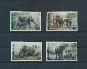 LO56395 Thailand 1991 elephants animals wildlife fine lot MNH