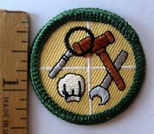 Retired 2001-11 Girl Scout Junior CAREERS BADGE Jobs Hat Gavel Wrench Patch NEW