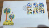 Sweden julpost 1988 Cover Xmas Stamps