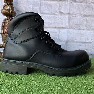 Brahma Men's Black Leather Work Boots Safety Shoes MNBR0340101 Sz 10.5W