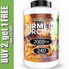 Turmeric Curcumin 2000 mg High Absorption Extra Strength Vegan Capsules 240 Ct