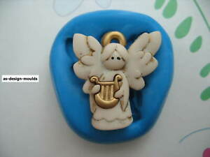 Cute Christmas Angel #2 Silicone Mould/Mold Sugar Craft, Cupcake Toppers