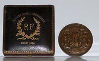 Paris Oudine medal. International Universal Exposition 1878. Original box. 86mm.