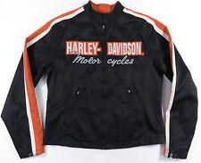 VTG HARLEY-DAVISON MOTORCYCLES WOMENS FULL ZIP NYLON COTTON RIDING JACKET  M