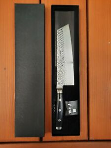 """NIB ENSO HD 7"""" BUNKA Knife VG10 Hammered Damascus Stainless Steel -Made in Japan"""