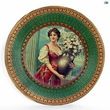 Antique 1907 Adorable Decorative Vienna Art Plate of 'Afu Capri'