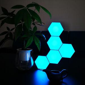 LED Colour Change Wall Desk Lamp Touch/remote CTRL Night Light Pack of 6 Hexogen