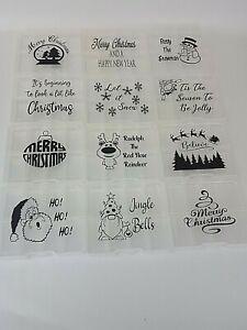 Christmas Wax Melt Sample Box Vinyl Decal Sticker Label HB Home Bargain Boxes