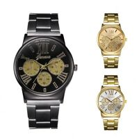 GENEVA Vintage Classical Business Men's Analog Stainless Steel Quartz Wristwatch