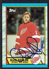 Glen Hanlon #144 signed autograph auto 1989-90 Topps Hockey Trading Card