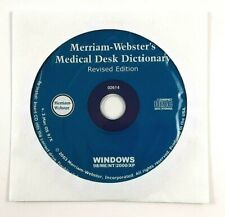 Merriam-Webster's Medical Desk Dictionary CD-ROM PC CD