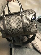 Coach Black Duffle Bag/Luggage, Used 9/10 Condition