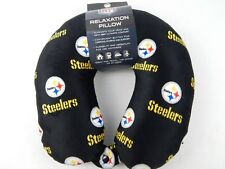 NIB Officially Licensed NFL Pittsburgh Steelers Plush Relaxation Travel Pillow