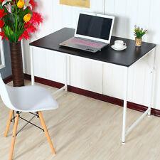 Black Computer Desk Study Table PC Laptop Workstation Home Office Furniture Wood