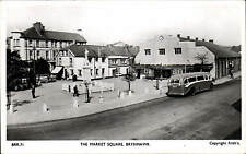 Brynmawr. The Market Square # BRR.71 by Frith. Bus & War Memorial.