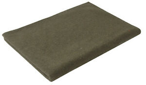 """wool blanket military style olive drab 62"""" x 80"""" rothco 9093"""