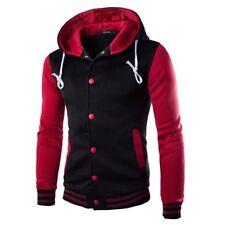 Mens Winter Warm Hoodie Slim Hooded Sweatshirt Outwear Sweater Coat Jacket M-XXL