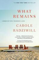 WHAT REMAINS by Carole Radziwill FREE SHIPPING paperback book memoir love carol