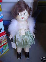 Vintage 1920s Composition Jointed Kewpie Girl Doll LOOK