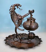 Jugendstil Bronze Teemaschine Drache - 130547 -