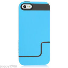 Incipio iPhone 5 Edge Pro Hard Cover Shell Slider Carrying Case Blue & Gray