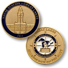 NEW Naval Station Great Lakes 1911 Quarterdeck Challenge Coin. 61807.