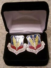 French Cuff Links Tactical Air Command w/ Gift Box NEW