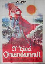 Affiche Italienne LES 10 COMMANDEMENTS Charlton Heston DE MILLE Yul Brynner