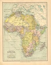 1902 MAP ~ AFRICA ~ SAHARA DESERT CAPE COLONY NUBIA TRIPOLI MOROCCO ALGERIA