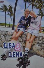 LISA & LENA - A3 Poster (ca. 42 x 28 cm) - YouTube Clippings Fan Sammlung NEU