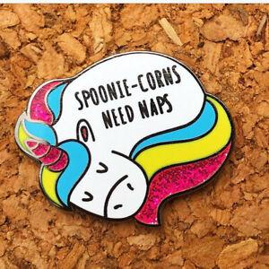 Spoonie-Corns Need Naps - Enamel Awareness Pin