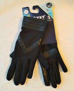 Women's Isotoner Smart Dri Black Gloves Touchscreen Technology 1 SZ Black or Red