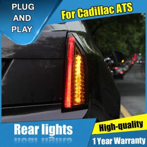 For Cadillac ATS Dark LED Rear Lamps Assembly LED Tail Lights 2014-2017