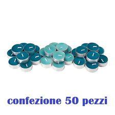 Set 50 Pezzi Candele Blu Profumate Fragranza Oceano Tealight Lumini moc