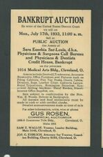 1933 Cleveland Oh Gus Rosen Bankrupt Auction Of Office Furniture Etc Has Bends