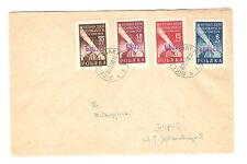 Polen Briefmarken Brief von 1950 Groszy Aufdruck Eingliederung Mi 596-599