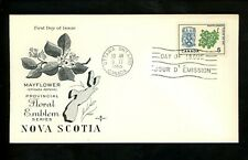 Postal History Canada Fdc #420 Rose Craft Provinces Nova Scotia 1965