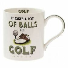 Golf Themed Fine China Mug Coffee Cup It Takes A Lot Of Balls Golfer Gift
