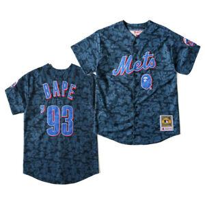 Bape A Bathing Ape Blue Camo Breathable Embroidery Cardigan Baseball  T-shirtsUK