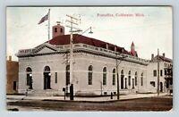 Post Office Building, Coldwater MI Vintage Postcard Z43