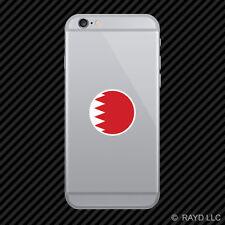 Round Bahraini Flag Cell Phone Sticker Mobile Bahrain BHR BH