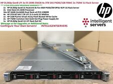 HP DL360p Gen8 LFF 2x E5-2690 256GB RAM 4x 3TB SAS P420i/1GB FBWC 1U Rack Server