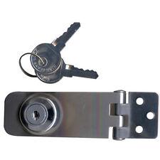 Hasp & Staple Door Lock / Latch Lockable with Keys Cupboard Lock Door Latch SS